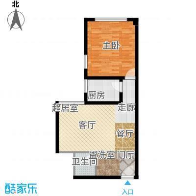 南阳长安玉龙苑67.04㎡一室一厅一卫户型1室1厅1卫