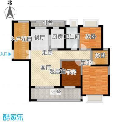 海景城119.40㎡海誉A1三室两厅两卫户型3室2厅2卫