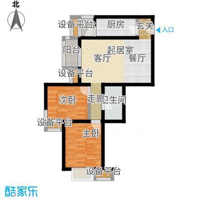 金唐国际公寓86.50㎡08户型二居室户型