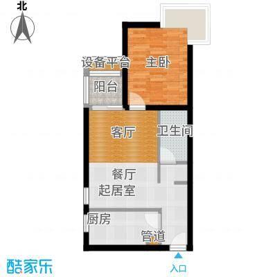 金唐国际公寓60.40㎡01户型一居室户型