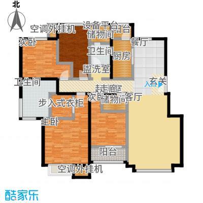 葛洲坝・紫郡府168.00㎡丁户型 4室2厅2卫1厨户型4室3厅2卫