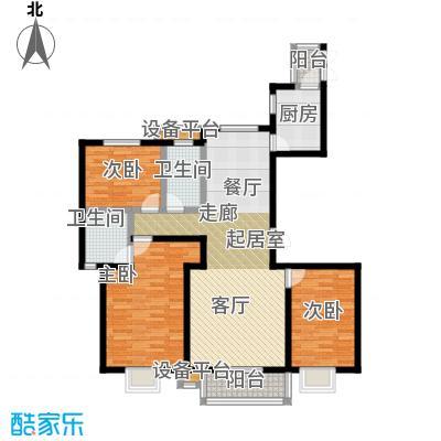 上上城理想新城三室二厅二卫户型