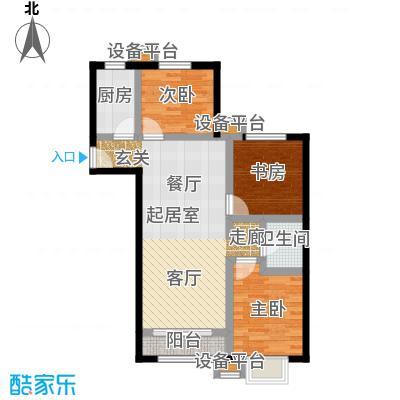 上上城理想新城三室二厅一卫户型