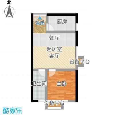 上上城理想新城一室一厅一卫户型