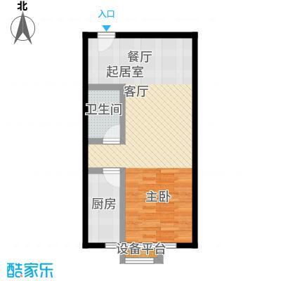 上上城理想新城独居开间户型