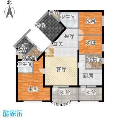 清境明湖公寓166.04㎡三居室户型