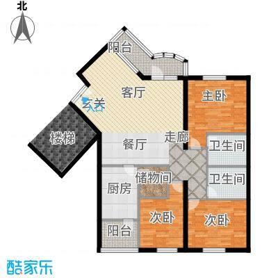 清境明湖公寓152.27㎡三居室户型