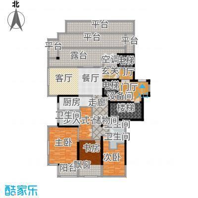融泽府203.00㎡E座F户型-三室二厅三卫-14层户型