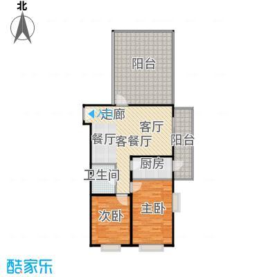 兴琦家园95.87㎡两室一厅一卫户型