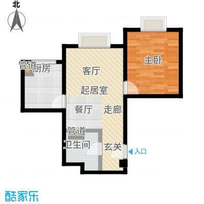 时代紫芳(竹园)62.00㎡F1一室一厅一卫户型