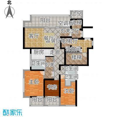 融泽府176.90㎡D-D三室两厅三室户型