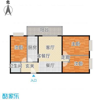 兴琦家园91.56㎡B户型