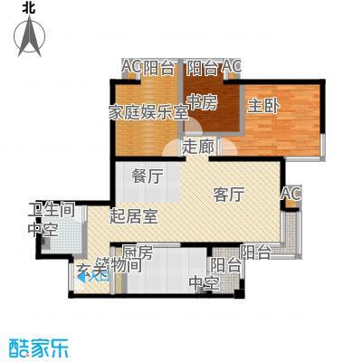 时代紫芳(竹园)117.00㎡E1三室两厅一卫户型