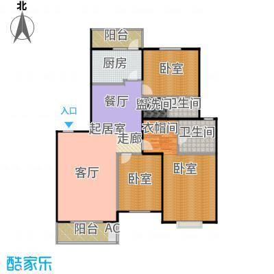 筑梦缘154.14㎡三居室户型