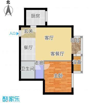 国际E庄65.00㎡C户型一室一厅一卫户型