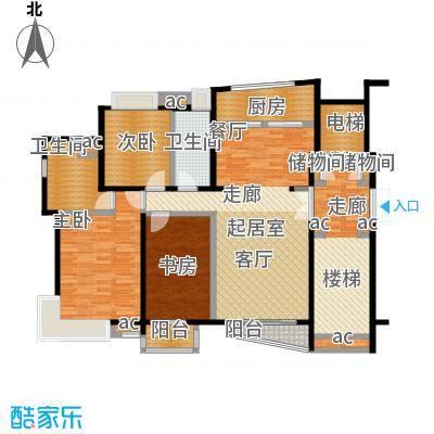 世纪星城・全朝阳135.61㎡C边户型 三室两厅两卫户型3室2厅2卫