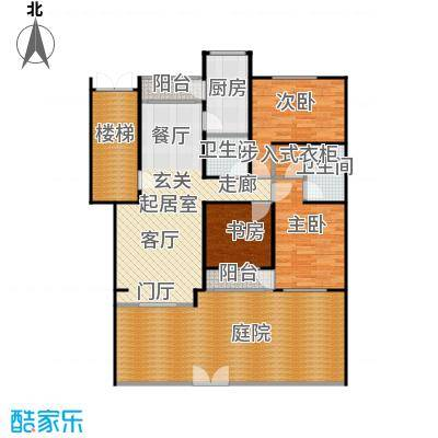 蓝调沙龙133.34㎡3室2厅2卫1厨户型