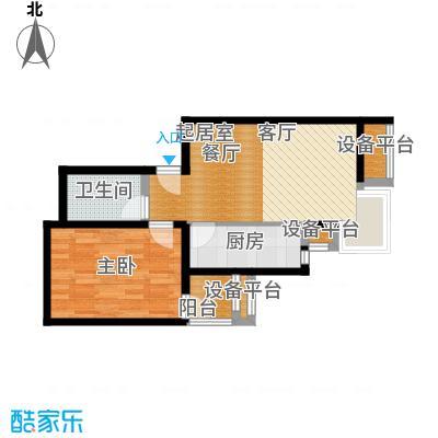 金唐国际公寓62.39㎡03户型一居室户型
