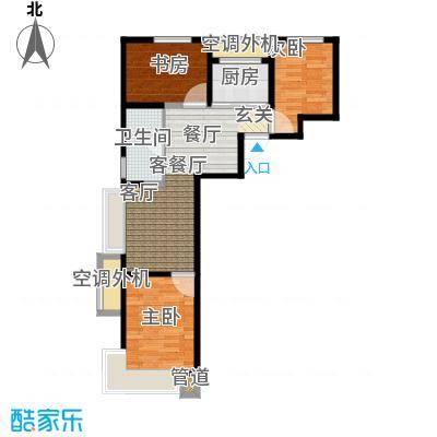 东亚・印象台湖76.18㎡A\\\'户型 三室二厅一卫户型3室2厅1卫
