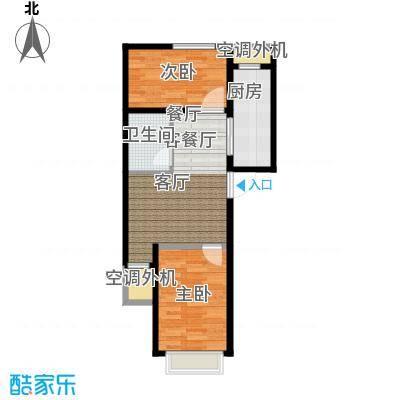 东亚・印象台湖70.56㎡F反户型 二室二厅一卫户型2室2厅1卫