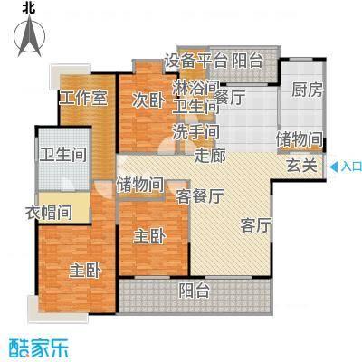 鹏欣一品漫城三期4S-E户型3室1厅2卫1厨
