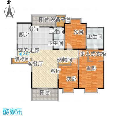 鹏欣一品漫城三期3S-C户型3室1厅3卫1厨
