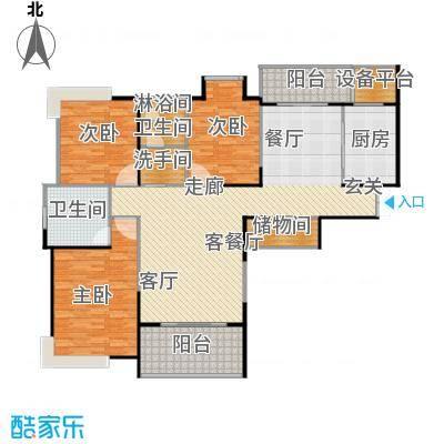 鹏欣一品漫城三期3S-G户型3室1厅2卫1厨