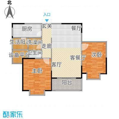 鹏欣一品漫城三期2J-C户型2室1厅1卫1厨