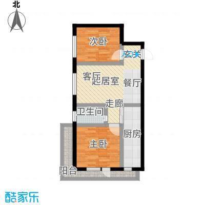 筑石居易筑石格林印象J户型74.20-78.14平米两室一厅一卫户型图户型2室1厅1卫