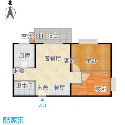 兴琦家园75.65㎡F户型