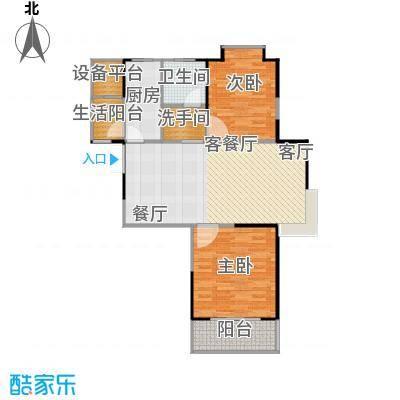 鹏欣一品漫城三期2J-B户型2室1厅1卫1厨