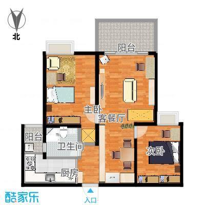 阳光城市花园2室2厅1卫105m2