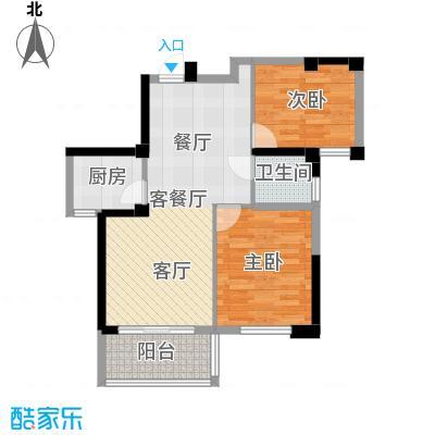 新华联慧谷中庚香山春天户型2室1厅1卫1厨