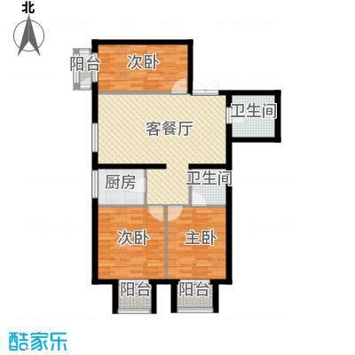 怡安皇庭天一紫御庄园A3户型3室1厅2卫1厨