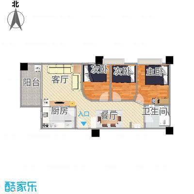 惠福大厦户型图A的更改方案2