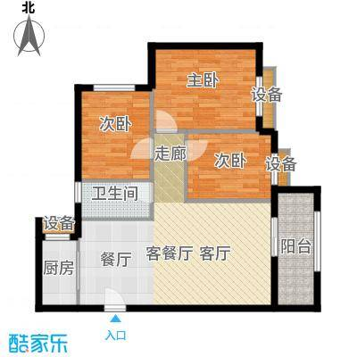宝龙城紫阳&ldquo仁和国际&rdquo一幢AB户型3室1厅1卫1厨