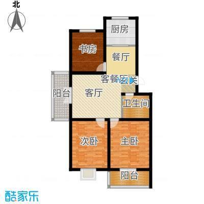 宝龙城建业家园C户型3室1厅1卫1厨