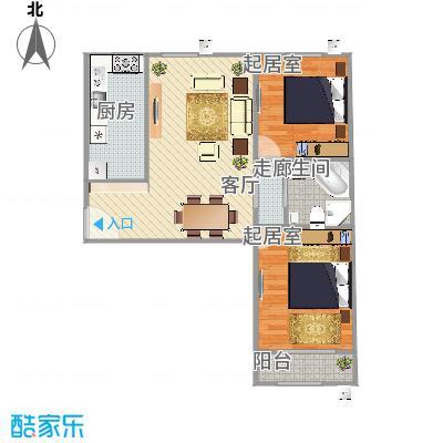 当代采育满庭春MOMA两室两厅一厨一卫90.43平米