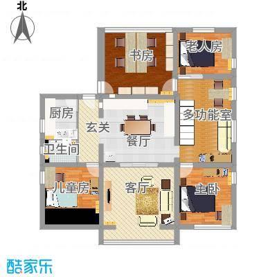 中关村北二条户型图带家具