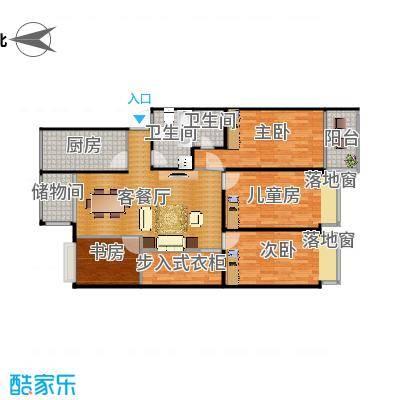 福林苑小区客厅改造方案二