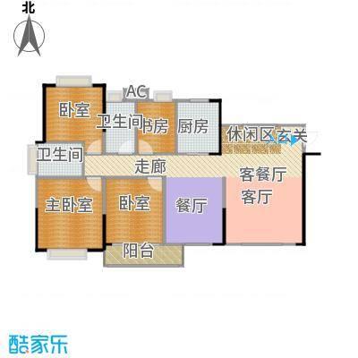 中惠香樟半岛8栋01平面图