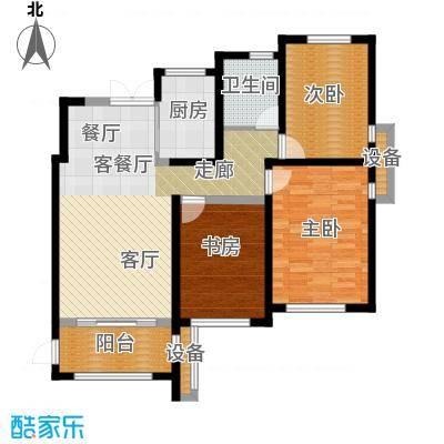 杭州湾世纪城世纪城汀香苑C2-01户型3室1厅1卫1厨