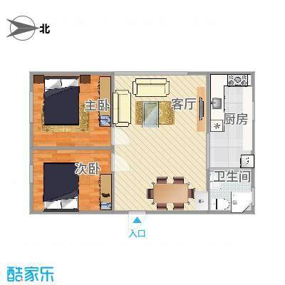渤海新屯70方A1户两室1厅