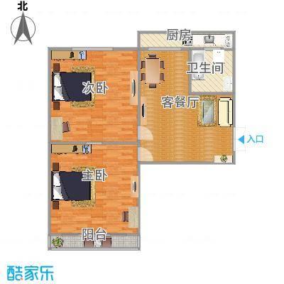 华清街槐安路交口工商局宿舍4楼偏门2室1厅