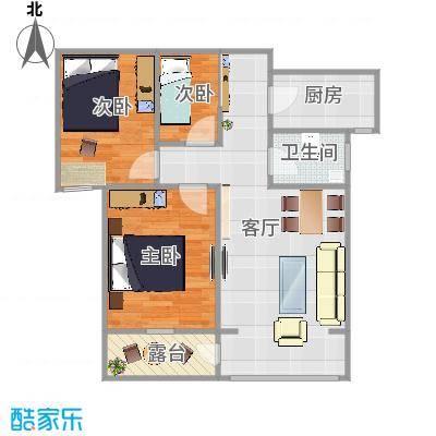上城悦府的高层20号楼西小户型图