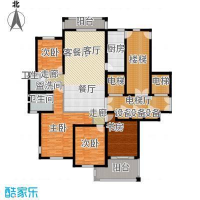 香格里拉花园E户型4室1厅2卫1厨