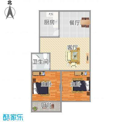 育秀东区两房的户型图