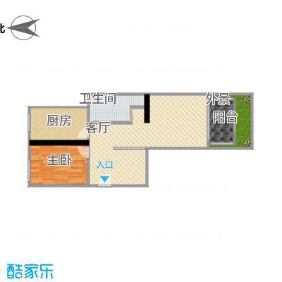 方案一两室一厅101带尺寸