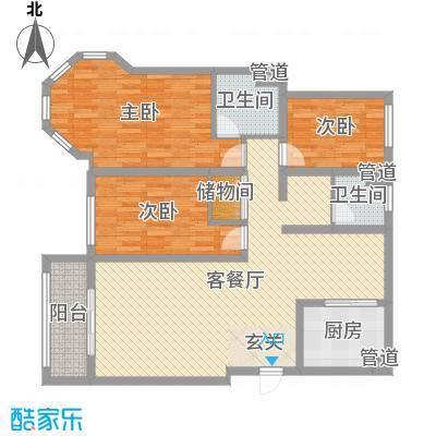 东成・凯亚国际120.00㎡凯亚国际户型3室3厅1卫1厨