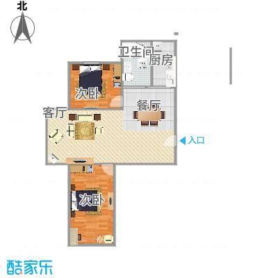 211-2室2厅1卫 85.33㎡